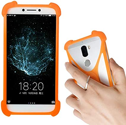 LANKASHI Naranja Funda de Silicona Case Ring Stand Holder Dedo ...