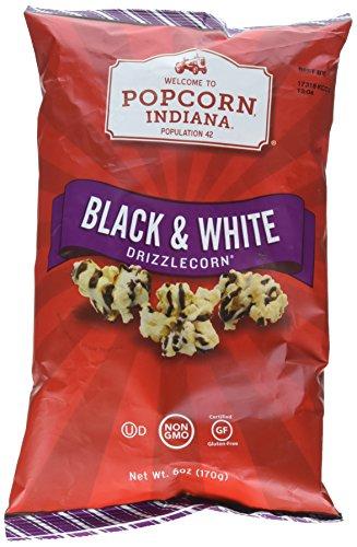 Dark Drizzle Chocolate - Popcorn, Indiana Drizzled Gluten Free Black & White Kettlecorn,6 oz.