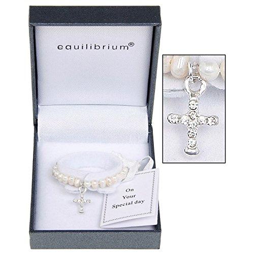 Equilibrium Jewellery Bracelet de bapt/ême Perles deau Douce