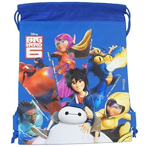 Disney Big Hero 6 All Characters In Blue Drawstring Bag (1 Bag) For Sale