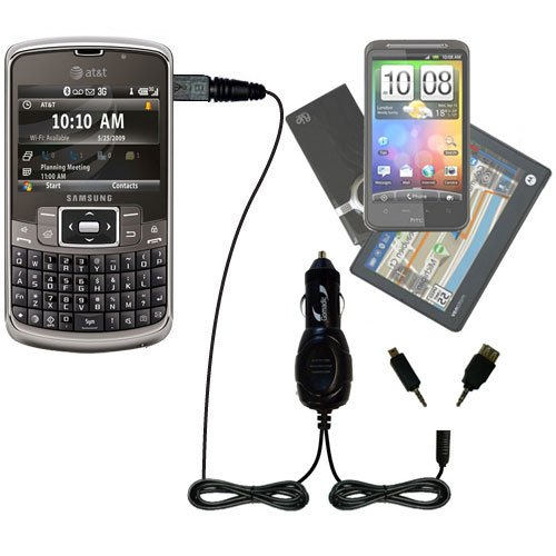 - Double Port Micro Gomadic Car / Auto DC Charger suitable for the Samsung Jack SGH-i637 - Charges up to 2 devices simultaneously with Gomadic TipExchange Technology