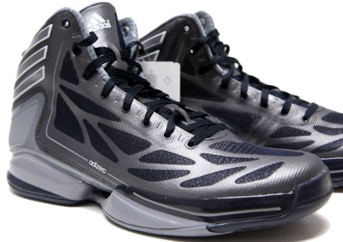 adidas mens adizero strana luce 2 scarpe da basket marina / grigio scuro