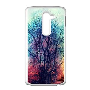Artistic colorful tree oil painting Phone Case for LG G2