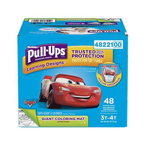 Pull-Ups Learning Designs Potty Training Pants for Boys, 3T-4T (32-40 lb.), 48 Ct. (Packaging May Vary)