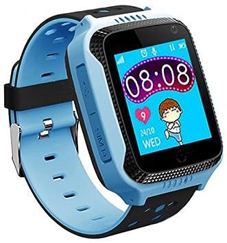 CursOnline® Montre bracelet Montre connectée téléphone portable enfants/garçons Carte SIM, alarme, GPS, appels, SMS, ...