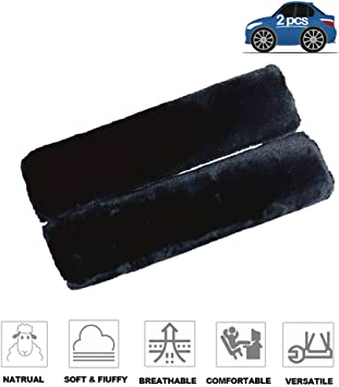 2Pcs Soft Fleece Seat Belt Shoulder Pads Covers Adults Seat Belt Pads Strap for Universal Car Truck Safety Comfortable Driving