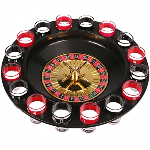 NEW 16 SHOT RUSSIAN ROULETTE DRINKING GAME PARTY SET SPIN SHOT STAG HEN GAME GLASS GAMES ADULT 18+ DRINKING