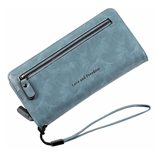 Gray Donna In Da Blue Frizione Pelle Elegante color Portamonete Bloccante Kervinzhang Con Per Light Borsa Retrò qHgSnEwO