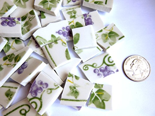 50 Floral Mosaic Tiles, Broken China Mosaic Pieces, Ceramic Mosaic Tiles, Mosaic Art Supplies, Tile Mosaic Supply, Mosaic Craft Tiles, Broken Dish Pieces (Ceramic Art Pieces)