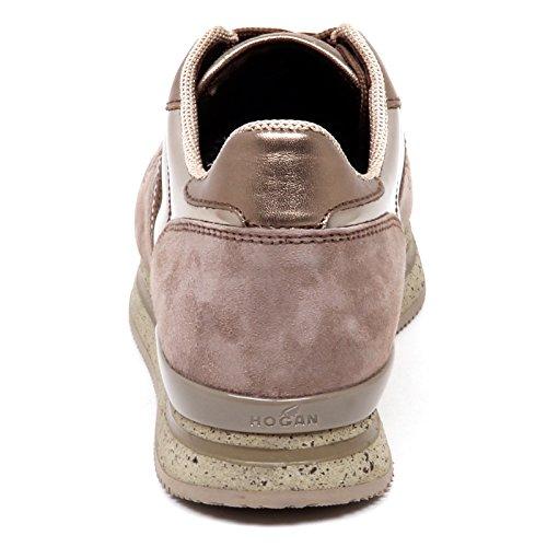 Argilla Chiaro H222 Marrone Woman Marrone Sneaker Chiaro Shoe E0266 Donna Hogan fYT7n