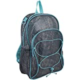 Best Mesh Backpacks - Eastsport Mesh Bungee Backpack, Gray/Mint, One Size Review