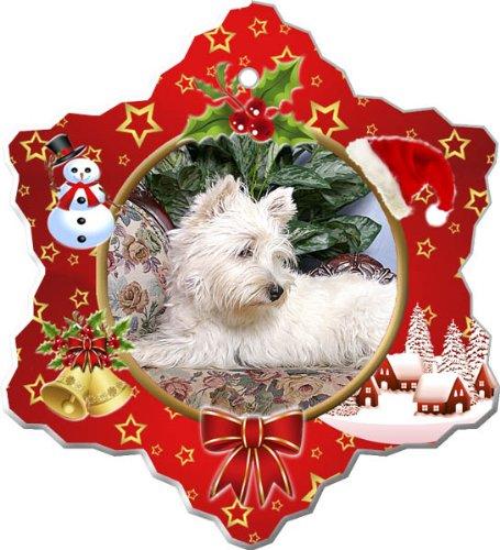 Terrier Dog Christmas Ornament - West Highland White Terrier Porcelain Holiday Ornament