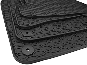 Kfzpremiumteile24 Gummimatten Premium Qualität Fußmatten Gummi Schwarz 4 Teilig Auto