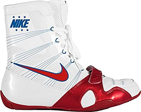 Nike HyperKO Boxing Shoes(White/Red, 7