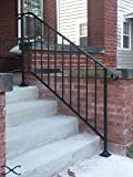 iron stair railing - Iron X Handrail Picket #4 Fits 4 or 5 Steps