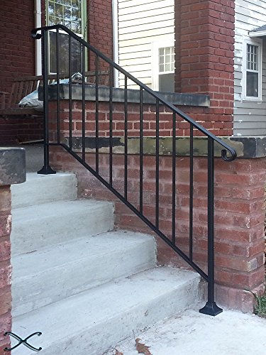 Iron X Handrail Picket #4 Fits 4 Or 5 Steps