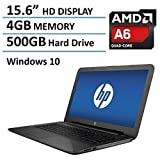 2016 Newest HP 15.6'' Premium High Performance Laptop PC, AMD Quad-Core APU 2.0GHz Processor, 4GB DDR3 RAM, 500GB Hard Drive, AMD Radeon R4 Graphics, DVD+/-RW, HDMI, Wifi, Webcam, Windows 10