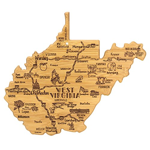 Totally Bamboo West Virginia State Destination Bamboo Serving and Cutting Board