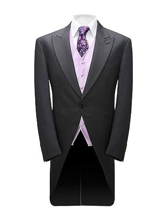 Torre hombre 100% Lana gris Herringbone traje de mañana FRAC ...