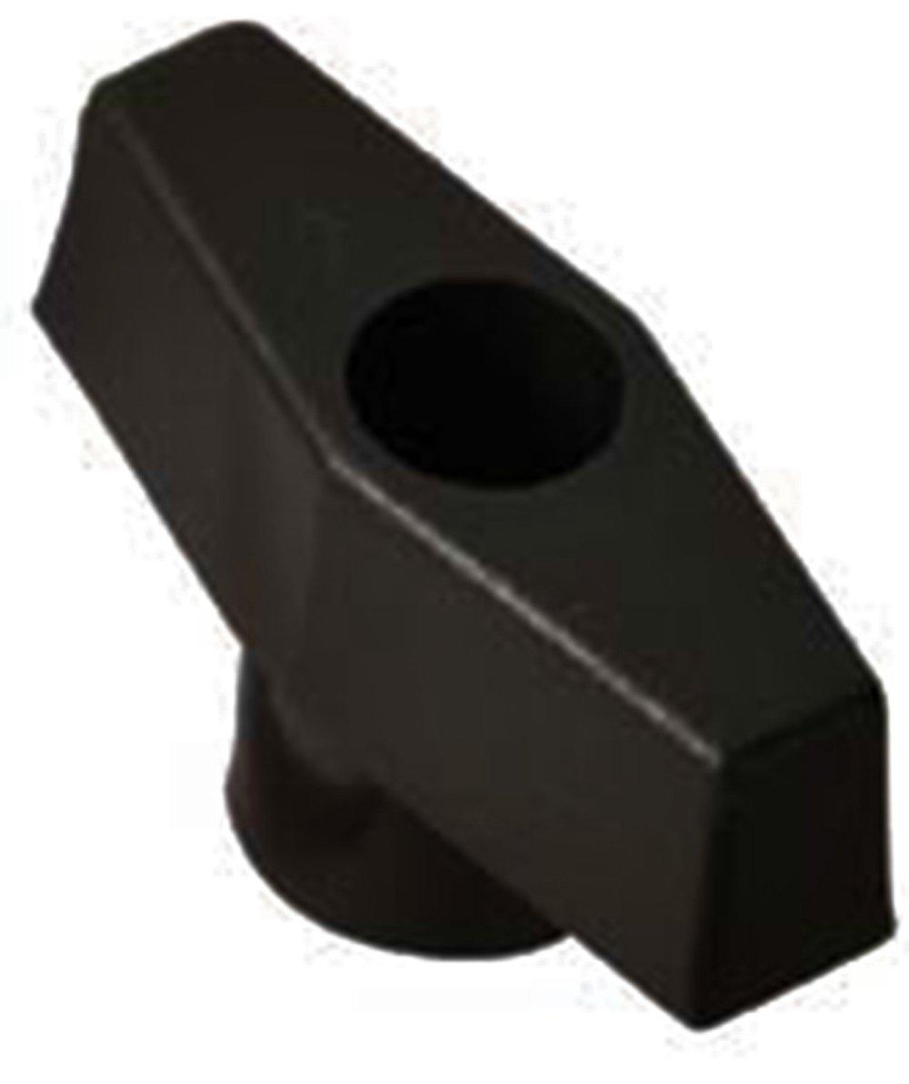 Davies Thermoplastic Bar Knob, Smooth Rim, Threaded Through Hole, 1/4''-20 Thread Size X 1/4'' Thread Length, 2'' Diameter (Pack of 10) by Davies