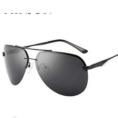 e85d08e0f84 Mens rimless sunglasses Polarized frog glasses Bright driving sunglasses-B