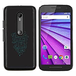 "Be-Star Único Patrón Plástico Duro Fundas Cover Cubre Hard Case Cover Para Motorola Moto G (3rd gen) / G3 ( Patrón minimalista Maze"" )"