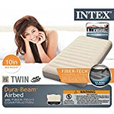 Intex Deluxe Single-High Dura-Beam Airbed with Fiber-Tech Construction, Twin