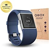 QIBOX Premium HD Clear Tempered Glass Screen Protector for for Fitbit Surge Fitness Superwatch 9H Hardness Multi-layer Explosion-proof and Anti-Bubble Screen Guard