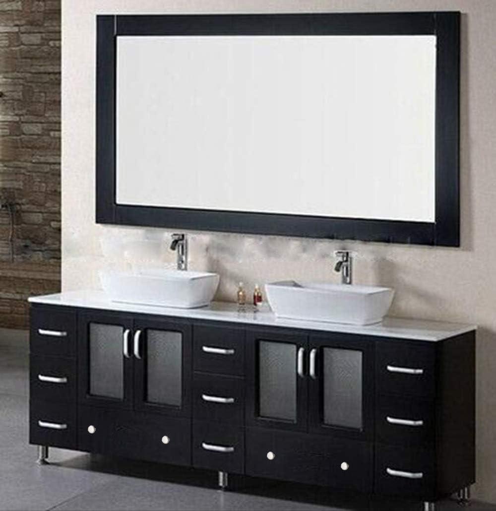 Amazon Com 83 Inch Wooden Free Standing Bathroom Vanity Ceramic Vessel Sink Bathroom Mirror Black Kitchen Dining
