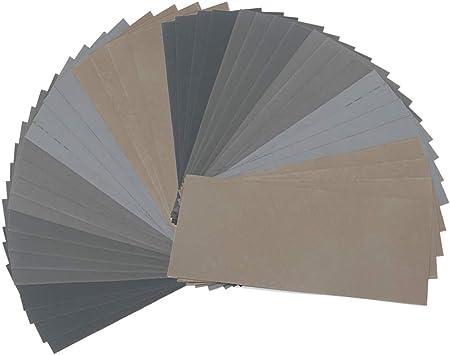 12 x assortiment flexible humide et sec de papier de verre fin moyen et grossier