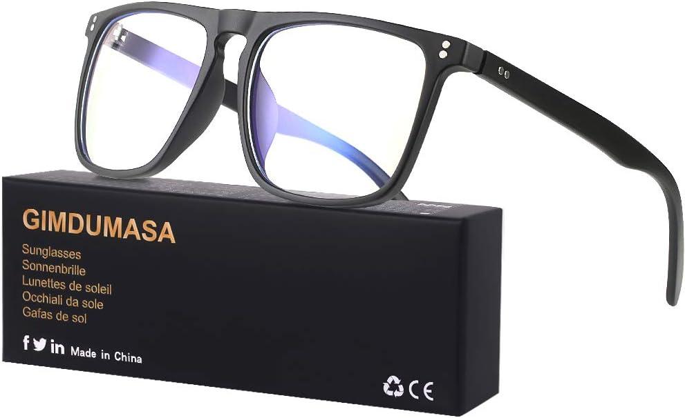 Gimdumasa Gafas Luz Azul Ordenador Gaming PC UV Filtro Proteccion Mujer Hombre GI766 (Negro)