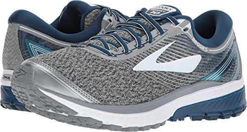 Brooks Men's Ghost 10 Silver/Blue/White 12 D US
