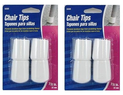 (Furniture Tip 7/8 Wht Vyl C (2 Pack))