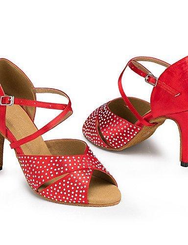 ... ShangYi Tanzschuhe Nicht Anpassbare - Stiletto - Beflockung - Latin - Damen  Red ...