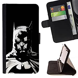 DEVIL CASE - FOR Samsung Galaxy S6 EDGE - The Bat Superhero - Style PU Leather Case Wallet Flip Stand Flap Closure Cover
