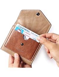 Women's RFID Blocking Small Compact Bifold Leather Pocket Wallet Ladies Mini Purse