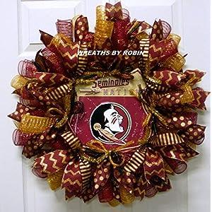 Florida Seminoles Wreath, FSU Wreath, College Wreaths, Sports Wreaths (2912) 64