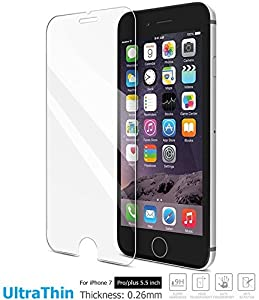 TOZO iPhone 7 plus Screen Protector Glass, [0.26mm] Ultrathin Premium Tempered Glass from TOZO