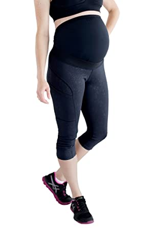 3b7f9a25e75155 Image Unavailable. Image not available for. Color: Mumberry Maternity Capri  Leggings With Belly Band Support