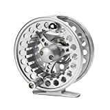 Croch Fly Fishing Reel with CNC-machined Aluminum Alloy Body 5/6 Silver For Sale