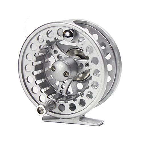 Croch Fly Fishing Reel with CNC-machined Aluminum Alloy Body 5/6 Silver