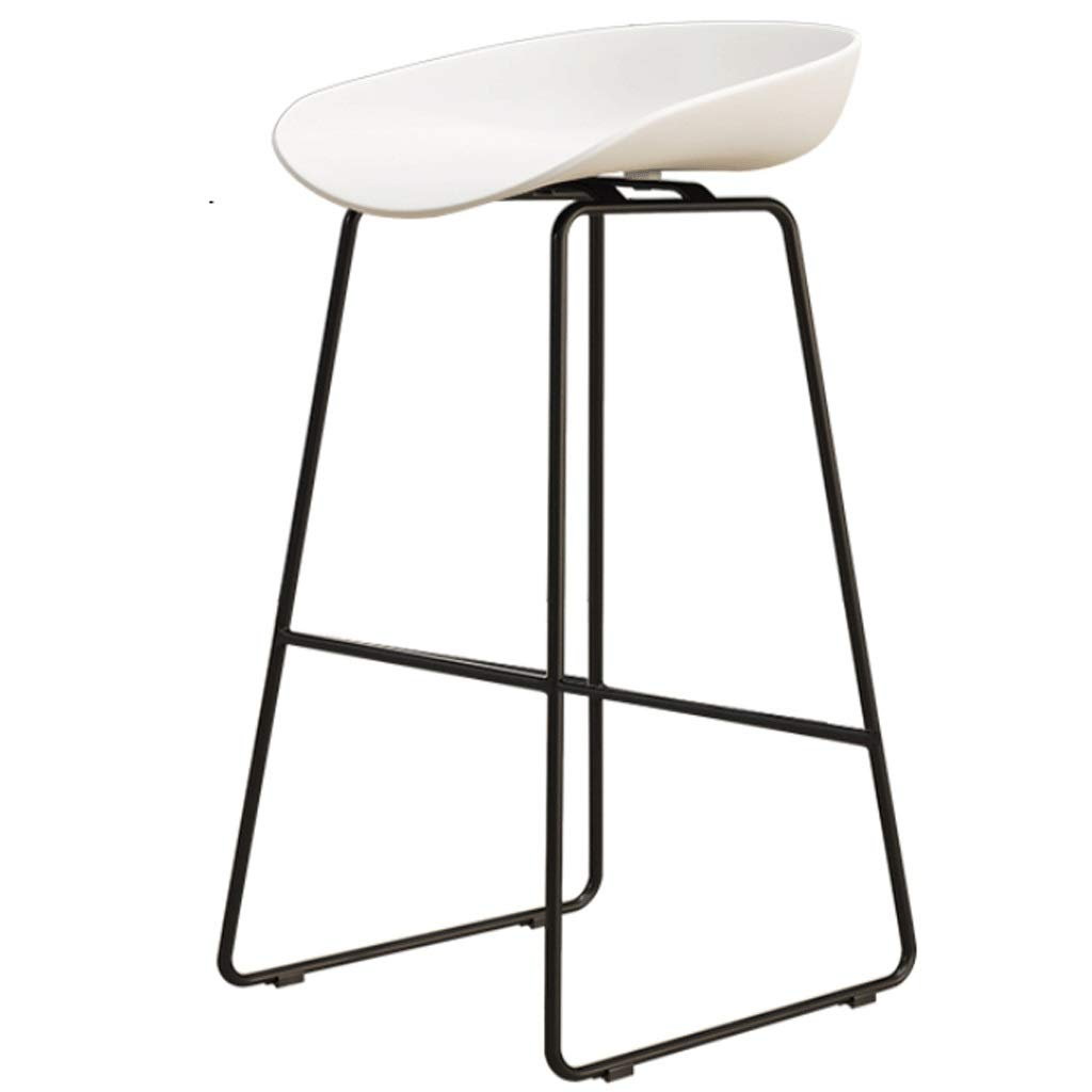 B Sitting height 65CM Iron High Stool Bar Chair Restaurant Counter Chair Cafe Metal Chair Modern Minimalist Home backrest high Chair (color   C, Size   Sitting Height 45CM)
