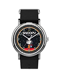 Timex Weekender - Reloj de pulsera analógico de nailon y cuarzo de la NASA, 38 mm, color negro, 20 relojes informales (modelo: TW2T82700JT)