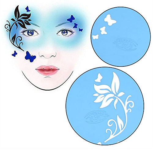 7 styles reusable face paint stencil body painting template flower
