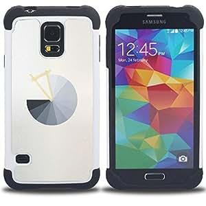 For Samsung Galaxy S5 I9600 G9009 G9008V - PIE CHART GREY ABSTRACT MINIMALIST GREY Dual Layer caso de Shell HUELGA Impacto pata de cabra con im??genes gr??ficas Steam - Funny Shop -