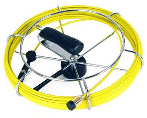 Steel Dragon Tools Fiber Glass Push Rod 130 FT Reel Cable fits 7/8-inch Pipe Inspection Camera ()