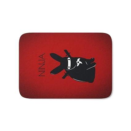 Amazon.com : LACOP-Store Ninja Bath Mat 23.6x17.5Inch ...