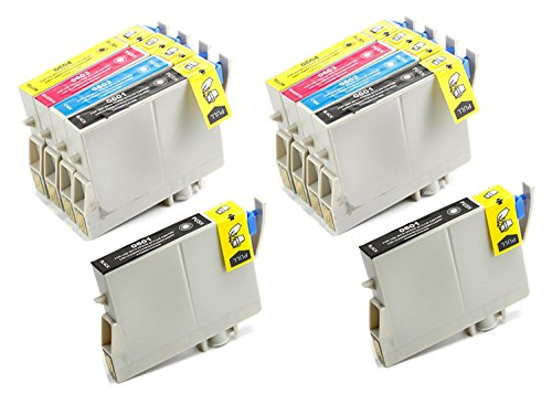 Aria Supplies Remanufactured 10 Pack Inkjet Cartridges for Epson T060 T060120 T060220 T060320 T060420 Compatible with Stylus C68, C88, C88Plus, CX3800, CX3810, CX4200, CX4800, CX5800F, ()