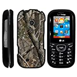 MINITURTLE Case Compatible w/ LG Cosmos 3 Case, Armor Snap On Hard Case Protector Cover w/ Customized Design for LG Cosmos 3 VN251S, LG Cosmos 2 VN251 (Verizon) Tree Bark Hunter Camouflage