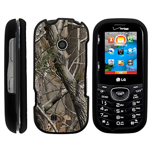 LG Cosmos 3 Case, Full Body Armor Snap On Hard Case Protector Cover with Customized Design for LG Cosmos 3 VN251S, LG Cosmos 2 VN251 (Verizon) from MINITURTLE | Includes Clear Screen Protector and Stylus Pen - Tree Bark Hunter Camouflage
